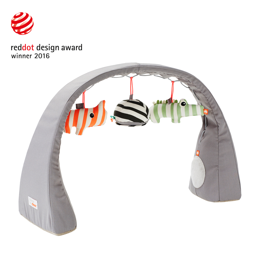 Grey baby play gym by done by deer with red dot design award