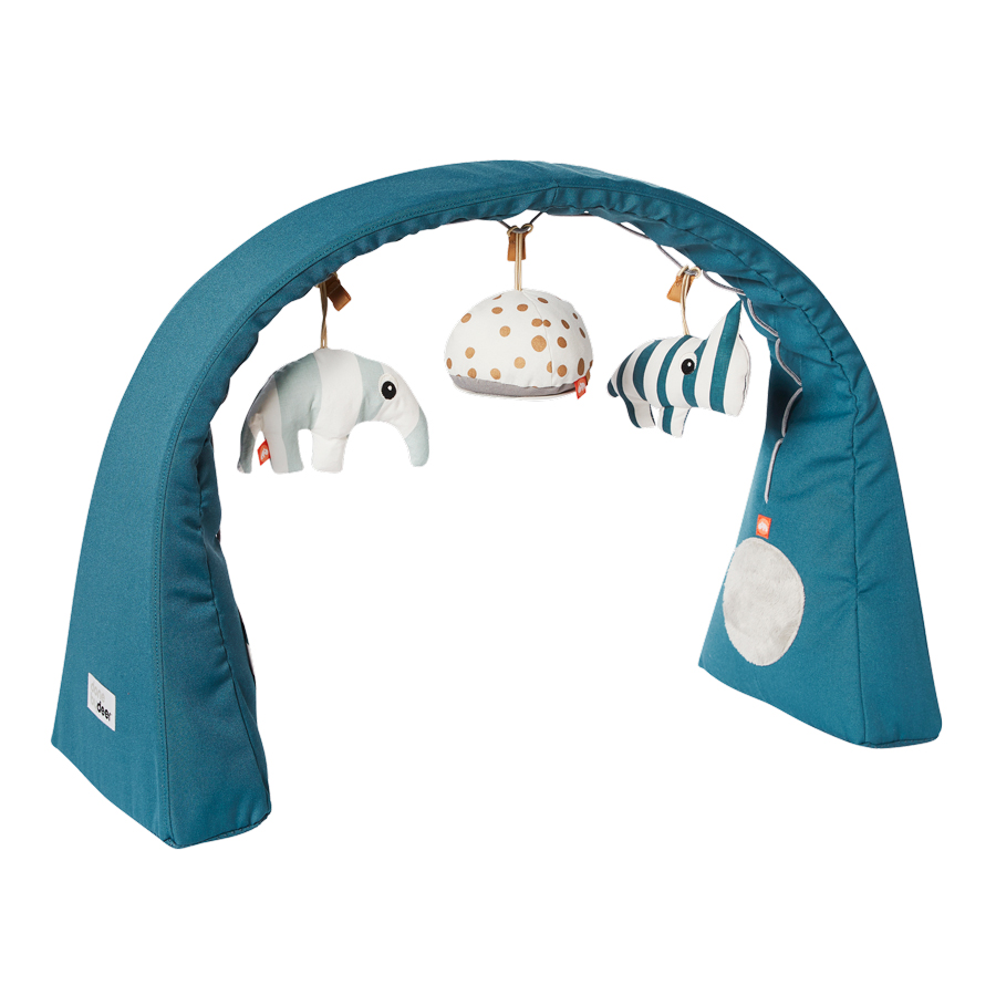 blue baby play gym freestanding by done by deer