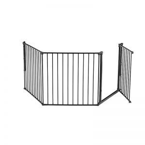 BabyDan Modular Baby Gate in Large for Wide Openings and Doorways in Black