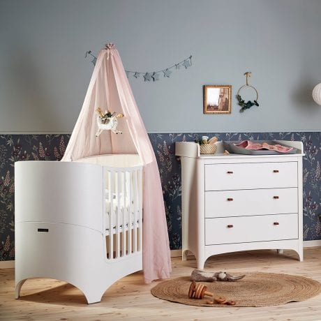 Leander Classic Dresser and Classic Cot White