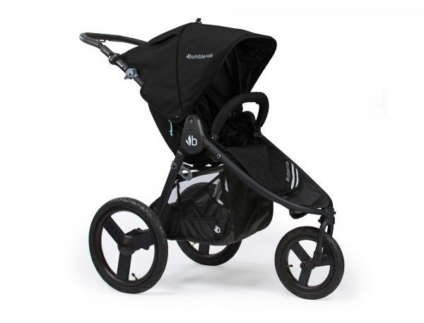 Bumbleride running pram Speed in black with black frame