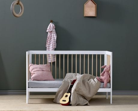 White Troll LUKAs cot converted to smart kids sofa