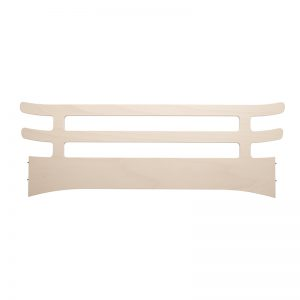 Whitewash junior guard for the Leander Classic cot as toddler bed