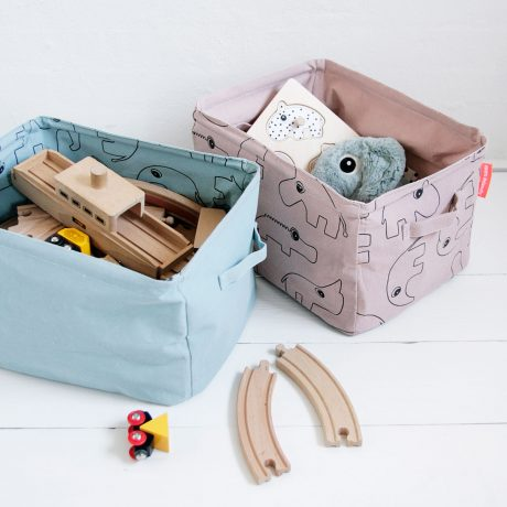 Reversible storage baskets for change table or toys from Done by Deer