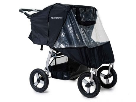 Bumbleride Indie Twin Stroller with rain cover