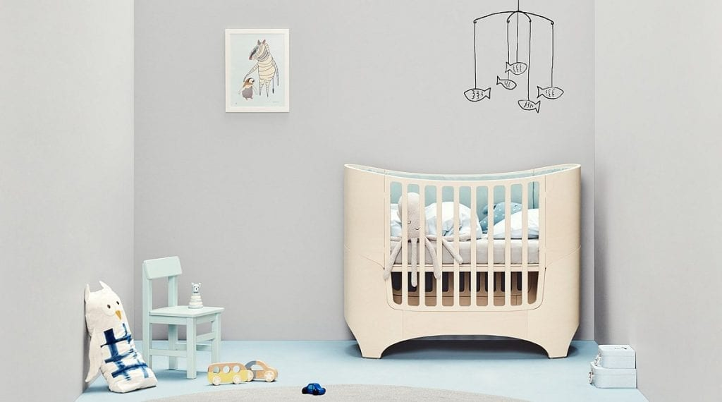 Leander cot in whitewash in neutral room