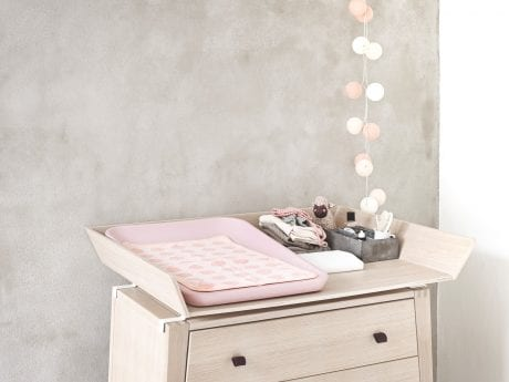 Linea by Leander dresser with change tray and pink Matty mat plus towel