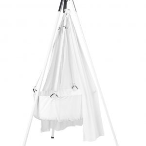 Leander Classic Cradle with Tripod and Canopy in White