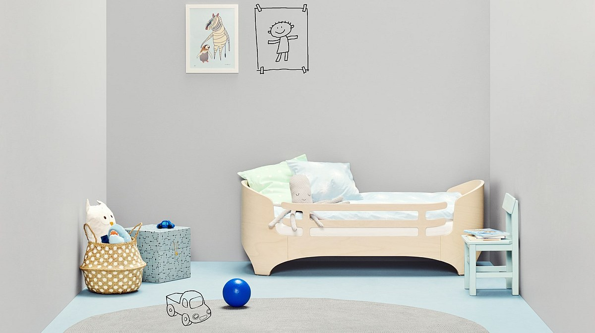 Whitewash Lneader junior bed in neutral room