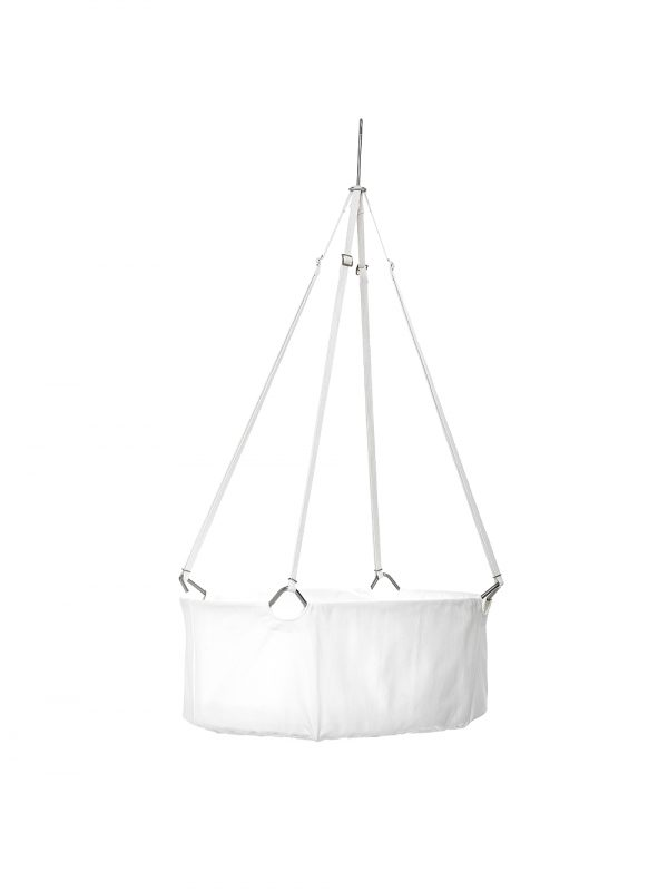 The Leander cradle basket is like a soft, white nest