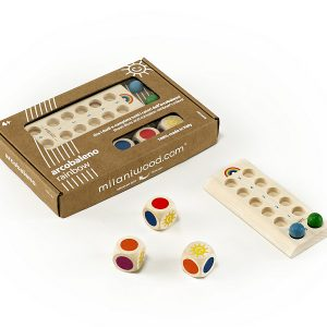 Milaniwood Wooden Rainbow Game - Close Up