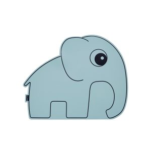 silicone kids placemat as blue elephant