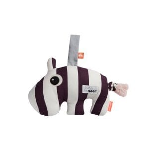 Striped hippo baby toy with music from Done by Deer