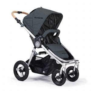 Bumbleride Era in grey with seat in forward position