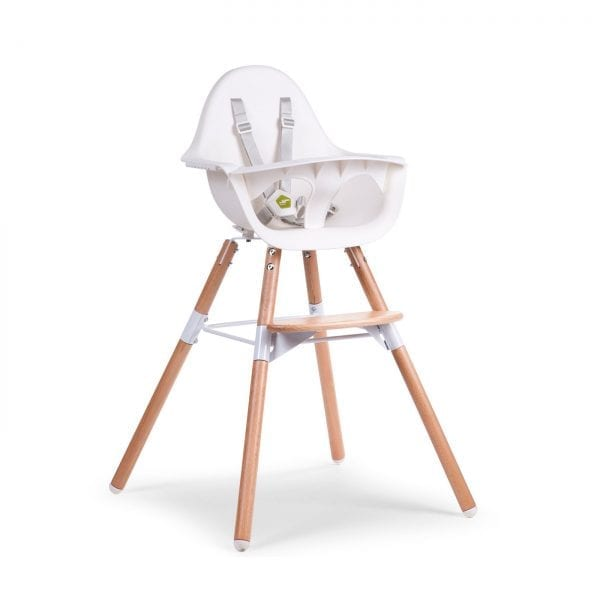 Childhome Evolu 2 High chair in white with natural