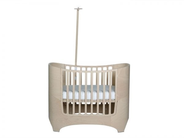 Leander Classic Cot with Canopy Rod in Whitewash