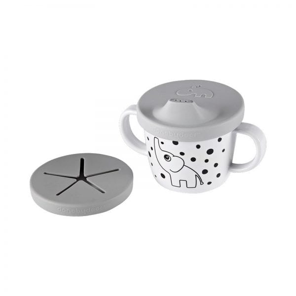 Done by Deer Elphee Silicone Spout/Snack Cup Grey 1998655