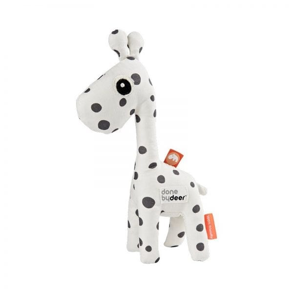 baby giraffe rattle with black dots