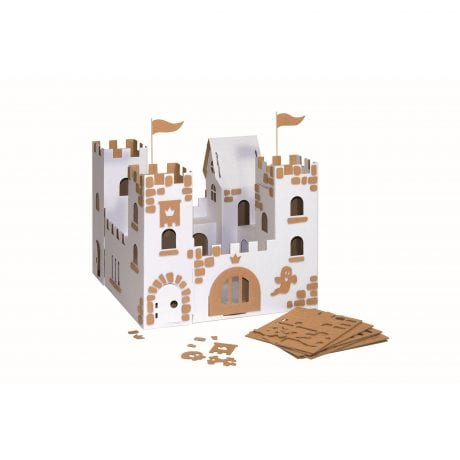 Kids craft decoration set for castles and forts