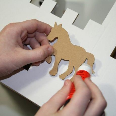 Calafant stick on decoration horse for Calafant cardboard models