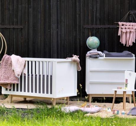 Scandy Cot and Dresser by Troll