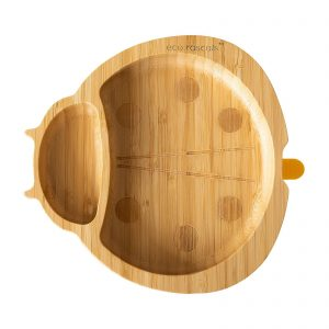 Eco rascal ladybird suction plate in organic bamboo
