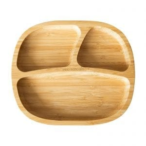 Eco rascal oval suction plate in organic bamboo