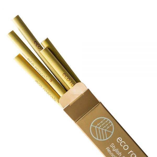 Eco Rascals organic bamboo straws pack of 5
