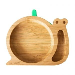 Eco rascal snail suction plate in organic bamboo
