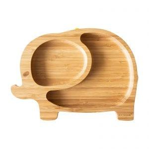 Eco Rascals organic bamboo elephant suction plate
