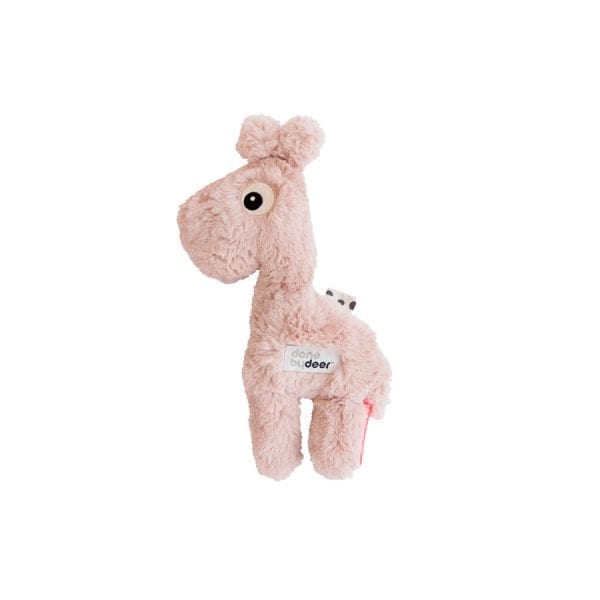 Done by Deer plush baby toy giraffe in pink