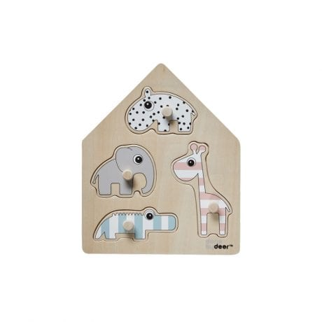 Done by Deer toddler 4-peg puzzle with animals
