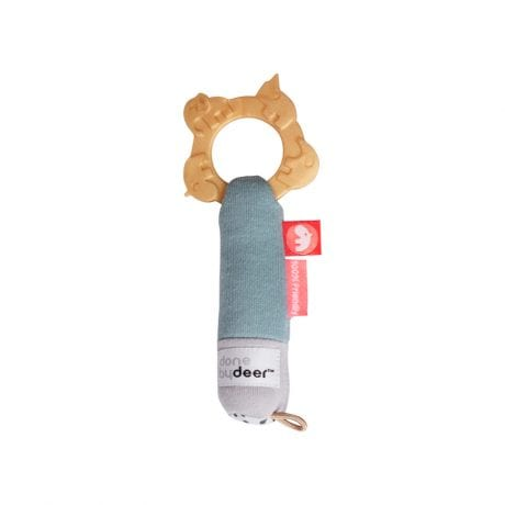 Done by Deer baby rattle with tactile chewing ring