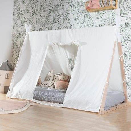 Childhome Tipi Junior Bed with Tent and Mattress