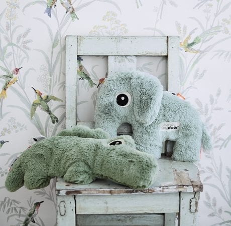 Done by Deer plush soft baby toys elephant and crocodile