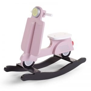 Childhome Rocking Scooter Pink Side