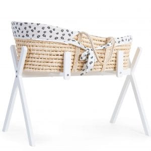 Childhome Tipi Stand with Corn Husk Moses Basket