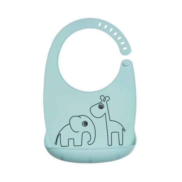 Done by Deer Silicone Bib Friends - Blue