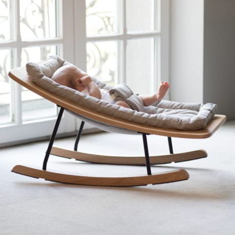 Quax Rocking Baby Bouncer in Sand Grey Web