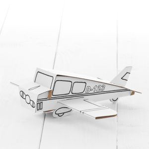 Calafant Air Plane - kids cardboard model ready to decorate
