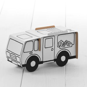 Calafant Campervan - kids cardboard model ready to decorate