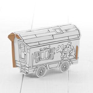 CalfantCircus Wagon - kids cardboard model ready to decorate