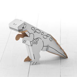 Calfant Dinosaur - kids cardboard model ready to decorate