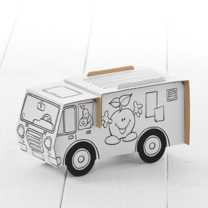 Calafant Market Bus - kids cardboard model ready to decorate