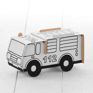Calafant Firetruck - kids cardboard model ready to decorate
