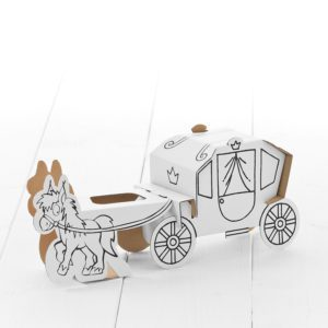 Calafant horse and Carriage - kids cardboard model ready to decorate