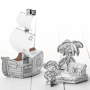 Calafant Cardboard Model Pirate Ship
