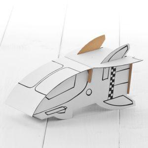 Calafant Sapceship - kids cardboard model ready to decorate