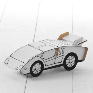 Calafant Sports Car - kids cardboard model ready to decorate