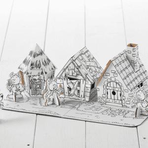 Three Little Pigs Calafant Cardboard Model